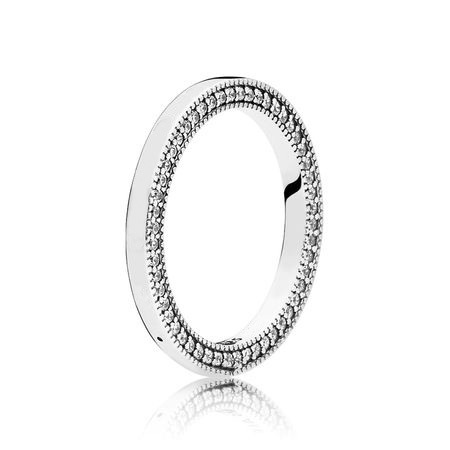 6 Style Women Silver Color Rings Jewelry Logo Signature With Crystal Pan Heart Pendant Ring For Women Jewelry 6