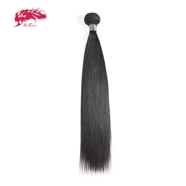 """עלי מלכת שיער פרואני ישר רמי שיער טבעי אריגת 1/3/4Pcs טבעי צבע M/7A 10 """" 26"""" שיער טבעי וויבס צרור"""