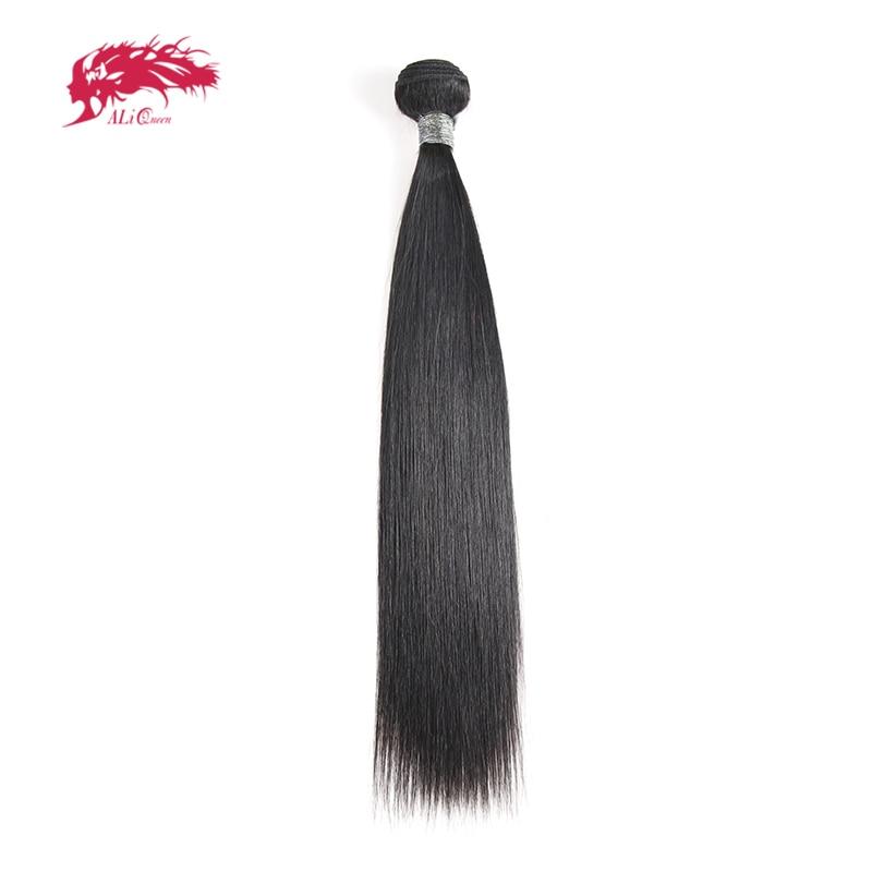 Ali Queen Hair Peruvian Straight Remy Human Hair Weaving 1/3/4Pcs Natural Color M/7A 10