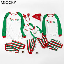 2019 Family Christmas Pajamas Father Mom Kid and Babys Matching Sleepwear Clothes Outfits Look Sets E0348