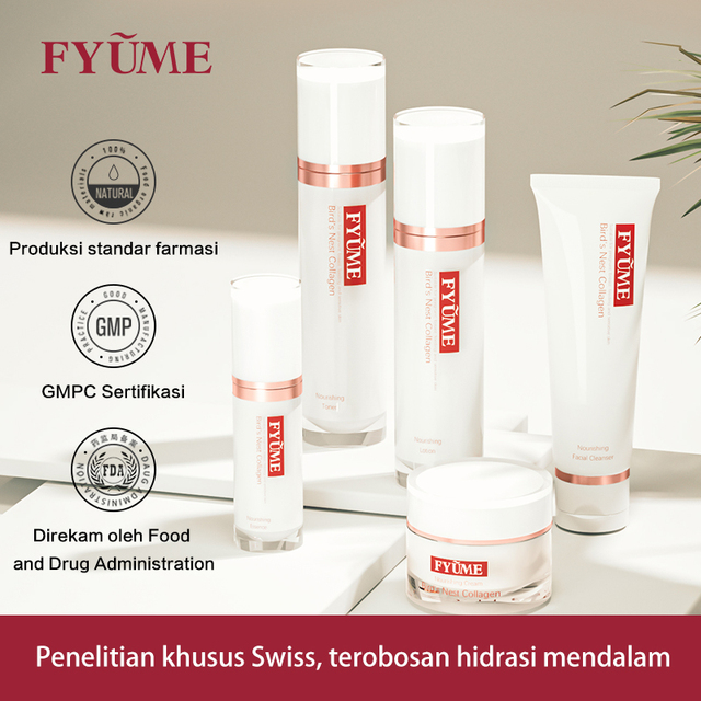 FYUME Maternity Bird's Nest Collagen Skin care products for pregnant women during lactation Cleanser+Toner+Lotion+Essence+Cream 2