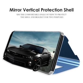 Mirror flip phone case for samsung