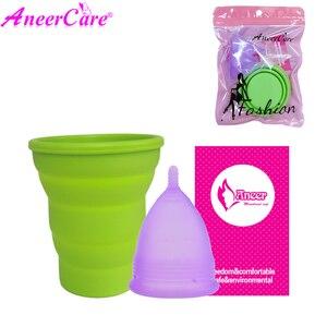 Image 2 - Coletor adet 2 adet tıbbi sınıf silikon hijyen menstrüel kupalar Lady adet bardak Mestrual Aneercare Coupe Menstruell S + L