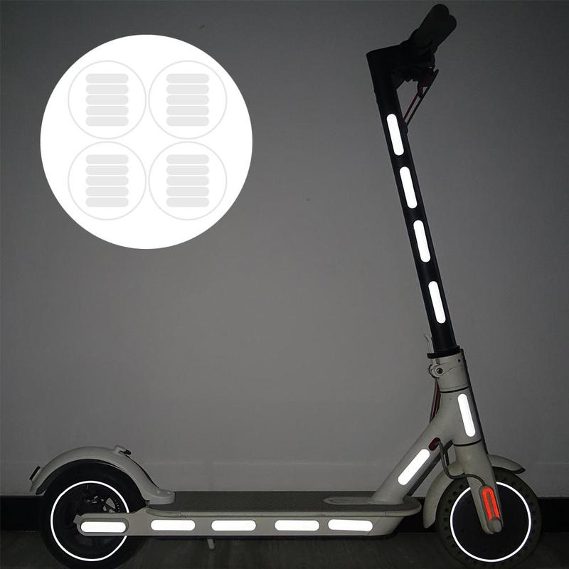 For Xiaomi Scooter Body Reflective Stickers Reflective Strip Night Safety Cycling Reflective Light Sticker Bicycle Accessories