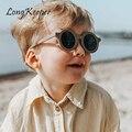 Круглые детские солнцезащитные очки LongKeeper, модные ретро детские очки для девочек, детские солнцезащитные очки с защитой от УФ-лучей для мал...