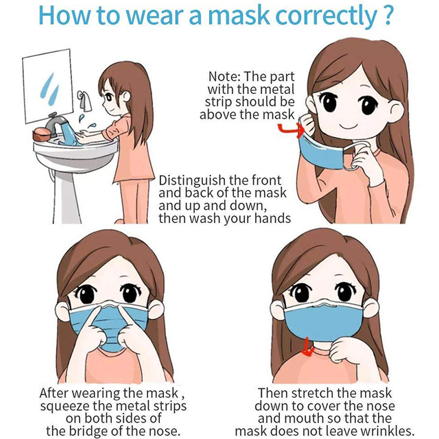 50/10pcs Disposable Mouth Mask medical Sterile Hygienic Anti air pollution Health Care Masks for Germ Protection Anti flu mask 4
