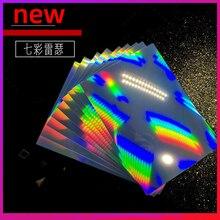 10 A4 Size Holographic Sheets Printable Vinyl Sticker Paper Waterproof Sticker Paper Vinyl Rainbow Sticker Paper for Inkjet