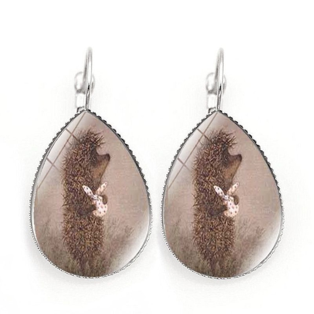 Купить пара сережек новые аксессуары ежик время драгоценный камень