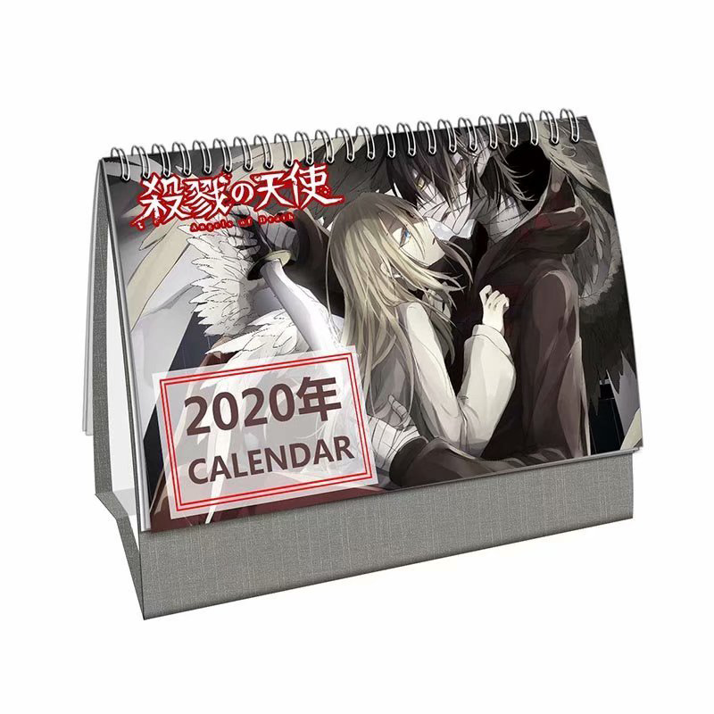 Angels Of Death Anime Game Cartoon Character Table Calendars Desktop Note Calendar 2020 Year Daily Planner Desk Calendar