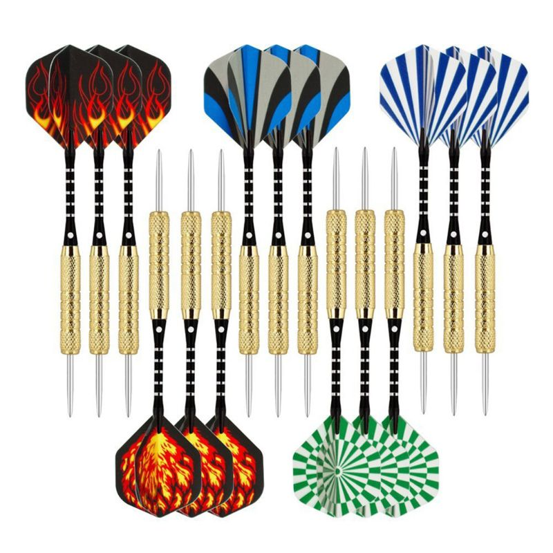 15pcs 18g Professional Steel Tip Darts Aluminum Shaft Hard Darts Metal Needle