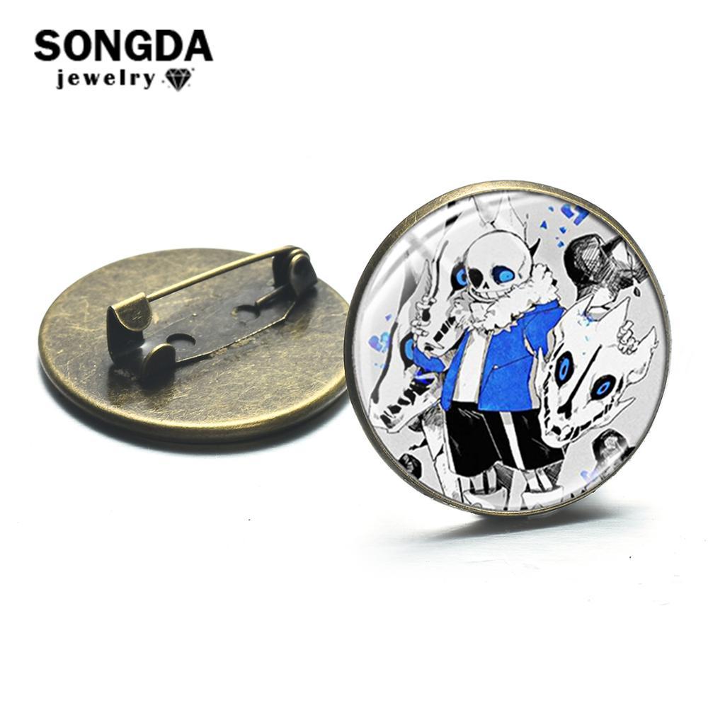 SONGDA Popular Game Undertale Brooch Pins Collection Sans Cartoon Icons Badges Accessories for Backpack Clothes Decoration Gift(China)