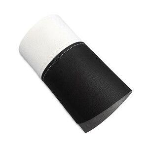 Image 2 - 4pcs Soft Leather Door Armrest Cover For Nissan Qashqai J11 2016 2017 2018 Interior Door Armrest Panel Cover Sticker Trim
