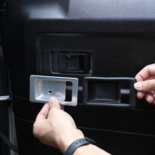 For Land Rover Defender 90 110 130 2004-18 Aluminum alloy Silver Car Inside Door bowl decoration cover Defender Auto Accessories