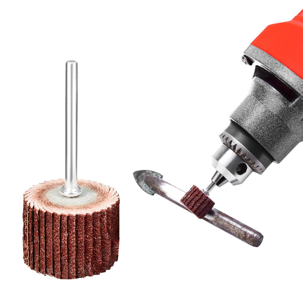 Abrasive Sanding Flap Disc Grinding Flap Wheels Kit Connected Rods Accessories Set Sandpaper Shank Rotary Tools