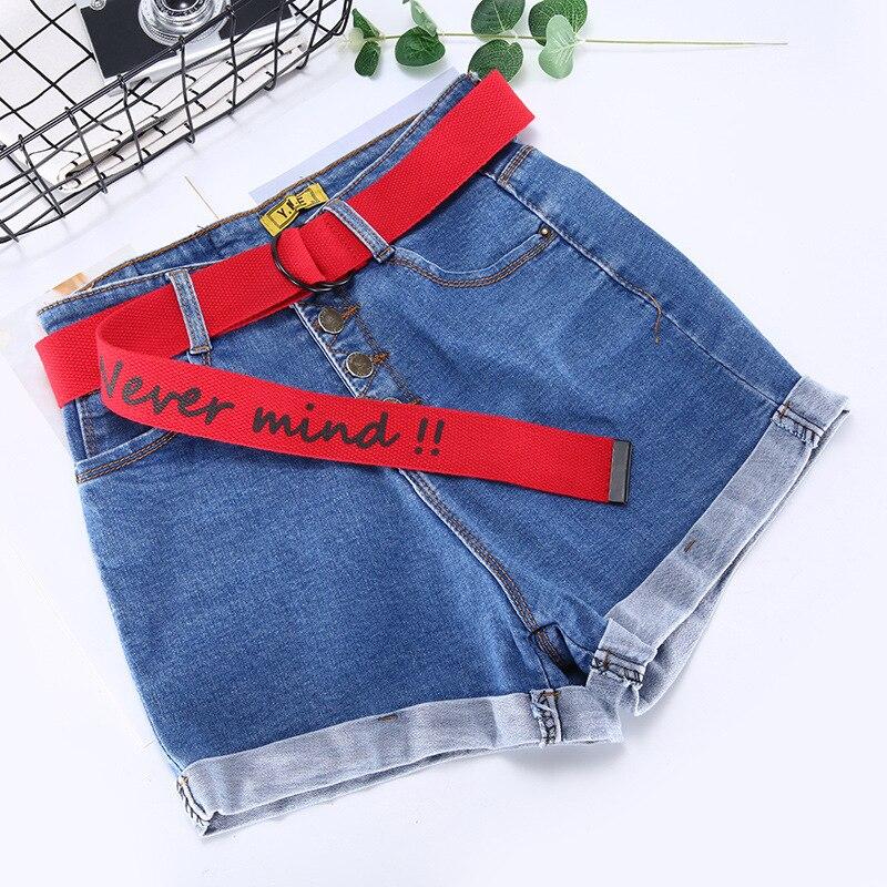 TagerWilen ремень стиль буквы напечатаны мода унисекс двойное D Кольцо холст ремень длинные джинсы ремни для женщин брезентовый мужской ремень - Цвет: Never-Red