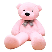 Urso de pelúcia gigante brinquedos para meninas boneca recheada macio grande unstuffed vazio pele de urso semi-finish presente do dia dos namorados para crianças