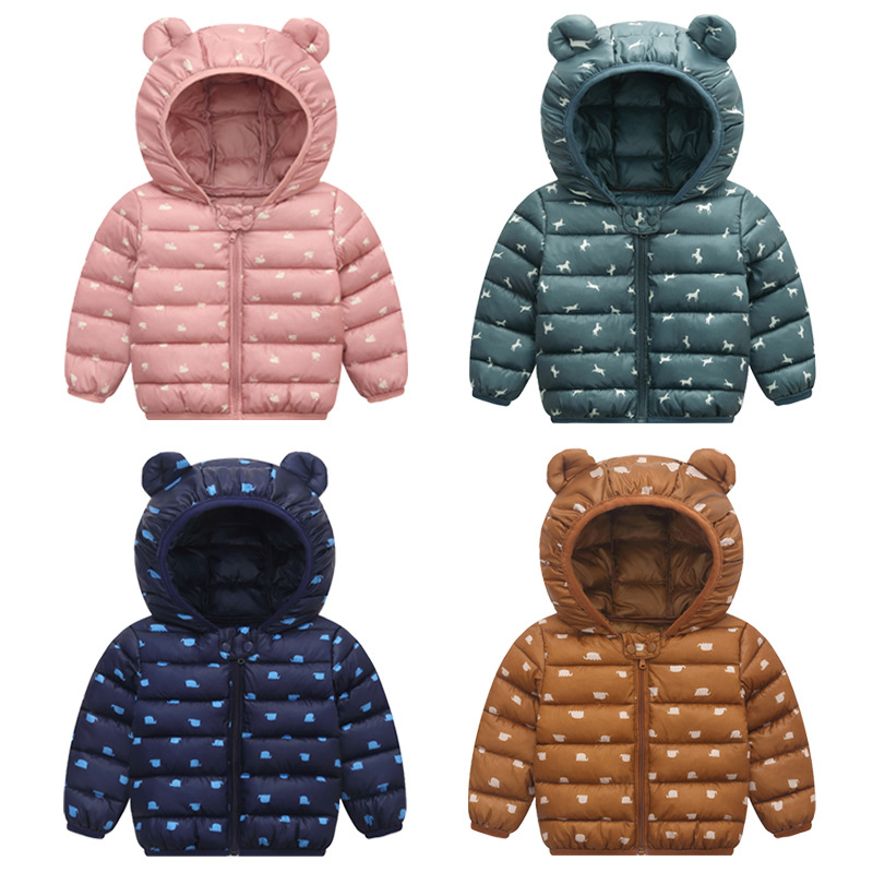 Toddler Kid Baby Boy Girl Outerwear Teddy Bear Hooded Winter Coat Jacket Clothes