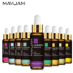 10ML Lavender Essential Oil Diffuser Pure Essential Oils Rose Eucalyptus Jasmine Vanilla Mint Sandalwood Tea Tree Aroma Oil
