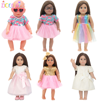 Doll Flamingo Summer Clothes 15 Styles Skirt Dress Accessories Fit 18 Inch American&43 Cm Baby New Born Doll Generation Gifts baby born doll clothes toys white polka dots dress fit 18 inches baby born 43 cm doll accessories gc18 36