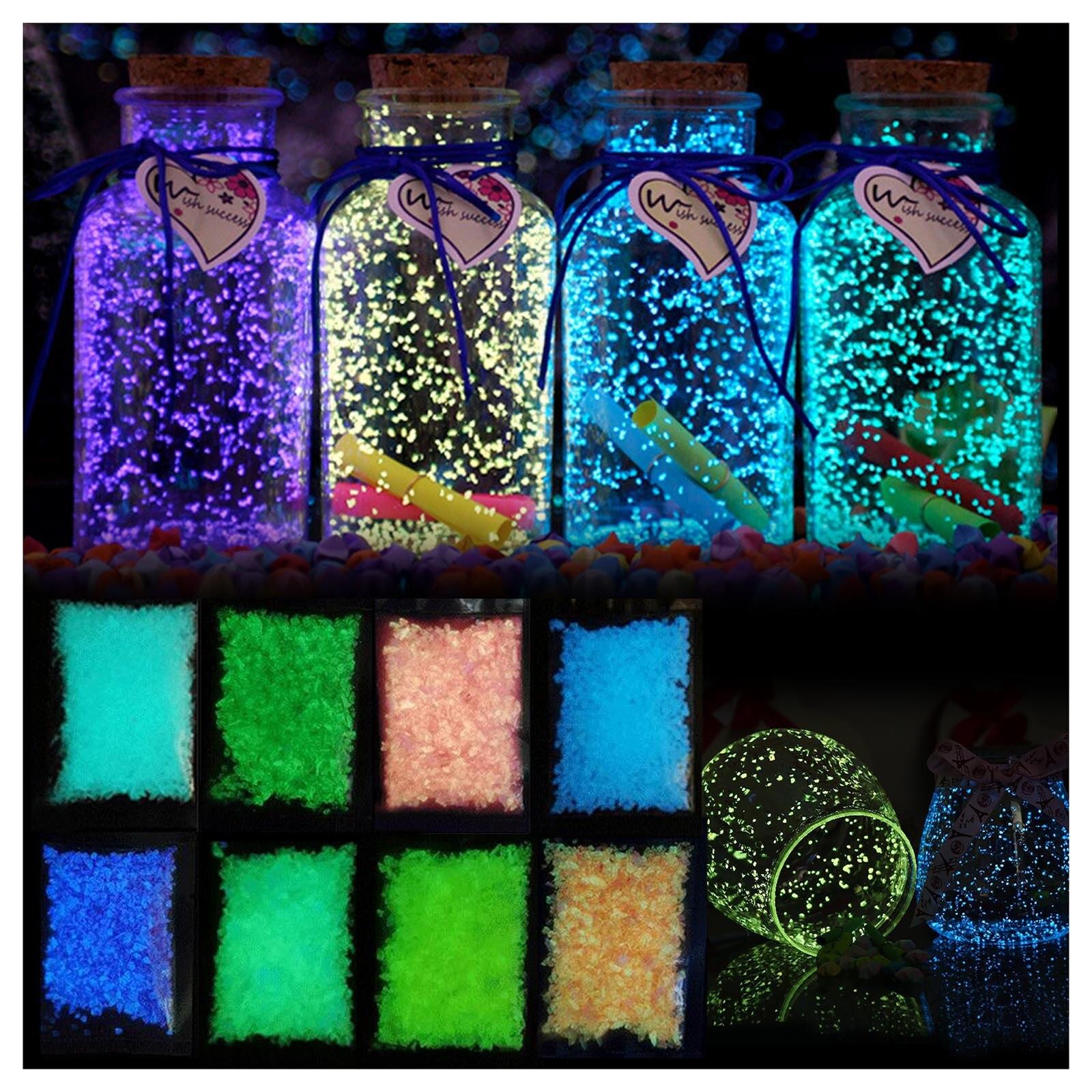 Mini Luminous Sand Stones Garden Park Road Pebbles Glow In Dark Ornaments For Party Aquarium Fish Tank Decoration Stone Ornament