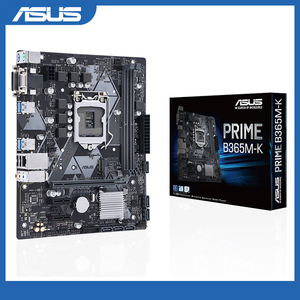 ASUS PRIME B365M-K Intel LGA-1151 mATX motherboard is equipped with LED lighting effect, DDR4 2666MHz, supports M.2, SATA 6Gbps
