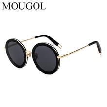 MOUGOL new retro Round Sunglasses women branded designer Vintage for Oculos De Sol Gafas lunette de soleil