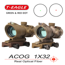 Trijicon T-eagle ACOG 1x32 Optical Rifle Scopes Spotting red dot M416 Reticle Wi