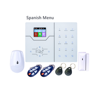 Inglês francês espanhol menu alarme 2g 4g gsm tcp ip alarme rj45 tcp ip alarme gsm casa inteligente sistema de alarme com webie e app