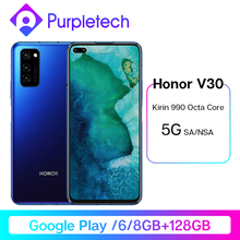 Honor V30 Google Play Kirin990 7nm Octa core 5G Smartphone 6GB 8GB 128GB 16Core GPU 40mp Triple Cam