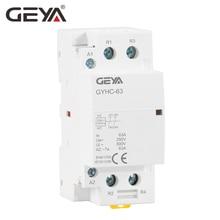 GEYA 2P 40A 63A 2NO or 2NC Modular Contactor DIN Rail Mounting AC220V 230V Automatic