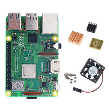 Raspberry Pi 3B + podstawowe w użyciu zestaw z ciepła link i wentylator