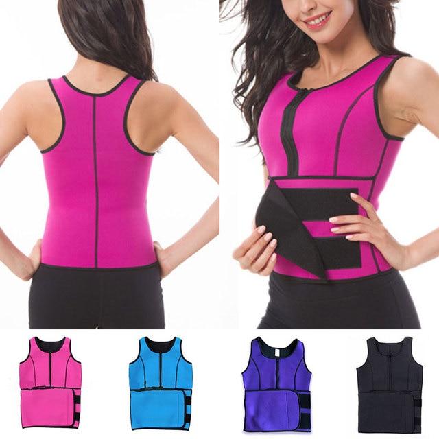 Women Waist Sealing Female Slimming Sheath Corset Belly Sweat Belt With Zipper Fashion Corset Belt Chest Support Body Shaping