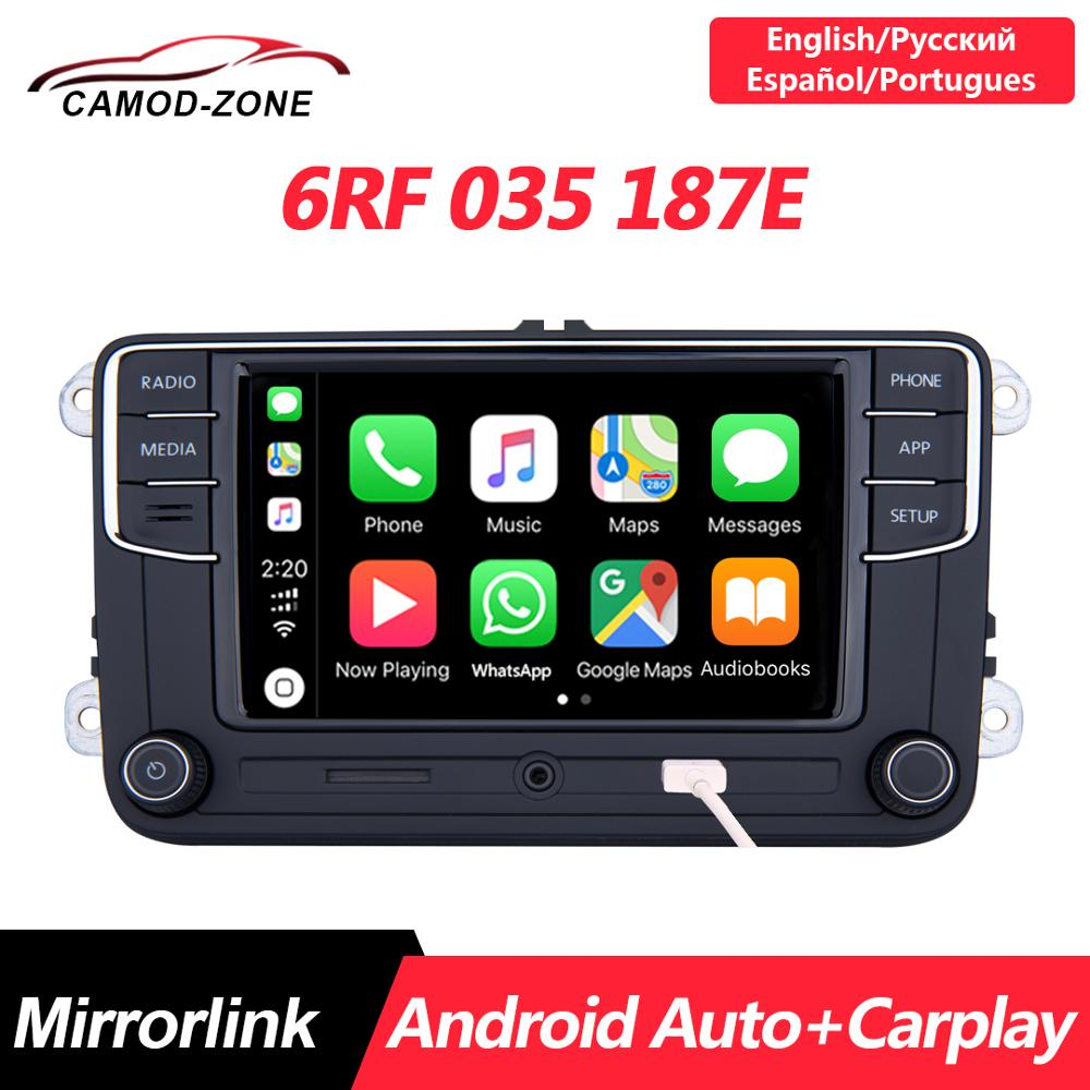 Android Auto <font><b>NONAME</b></font> <font><b>RCD330</b></font> PLUS RCD330G Carplay R340G MIB Car Radio 6RF 035 187E For VW Golf 5 6 Jetta MK6 CC Tiguan Passat Polo image