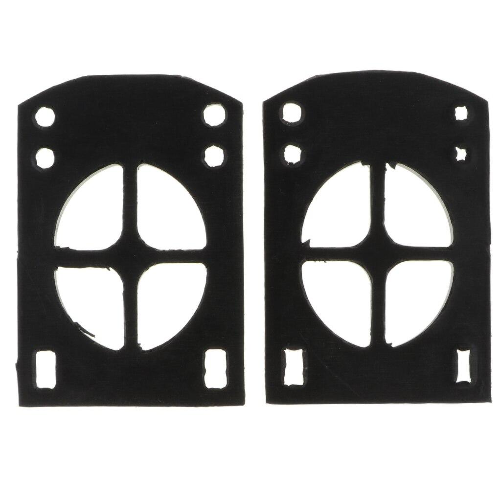 2pcs Longboard Riser Pads 5mm Pair Of Risers Skateboard Shock Pads Black Mounting Hardware Shock Riser Pad