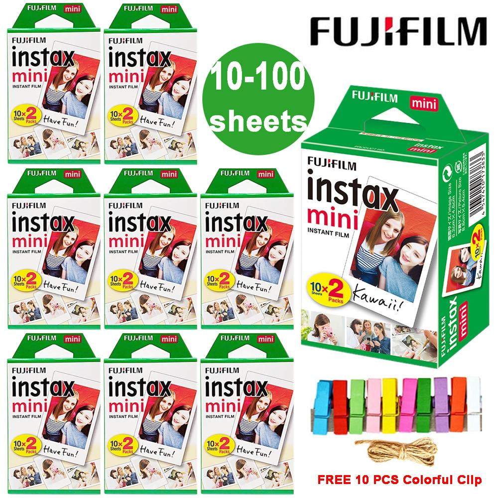 Fuji Fujifilm Instax Mini 9 Film White Edge Photo Paper Films For LiPlay Link Polaroid Instant Mini 8 7s 25 50s 9 90 Camera