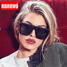 RBROVO 2019 Luxury Square Sunglasses Women Candy Color Lens
