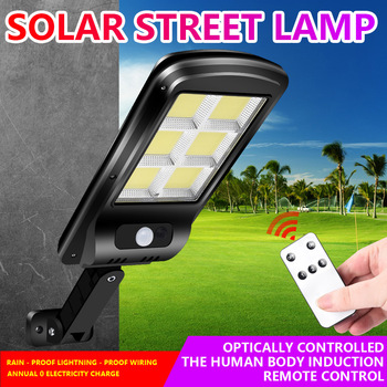 Solar Lights Outdoors Remote Control Lamp Adjust Led Light Outdoor Waterproof Street Wall Lighting For Balcony Garden Decoration