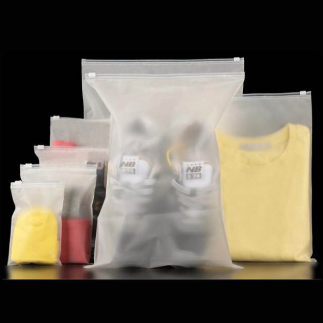 Us 6 65 26 Off 20pieces Large Clear White Plastic Zipper Bag Zip Seal Clothes Packaging In Storage Bags From Home Garden On