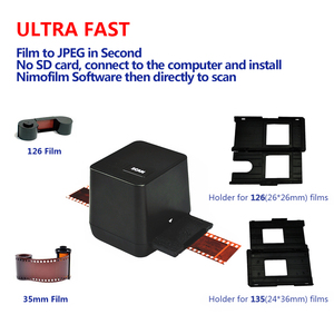 Image 2 - Portable Negative Film Scanner 35mm 135mm Slide Film Converter Photo Build in Editing Software USB Cable Scanner for Picture