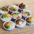 2PCS 1:6 Miniatur Puppenhaus Schüssel Reis Mini Chinesischen Küche Pretend Lebensmittel für 1/6 Blyth BJD Puppe Küche Decor Zubehör spielzeug
