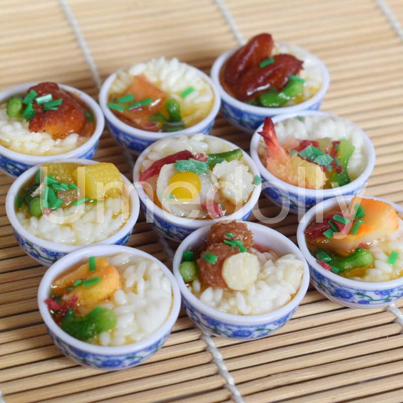 2PCS 1:6 Miniature Dollhouse ชามข้าว MINI อาหารจีนอาหารแกล้งทำเป็นสำหรับ 1/6 Blyth BJD ตุ๊กตาตกแต่งห้องครัวอุปกรณ์เสริมของเล่น