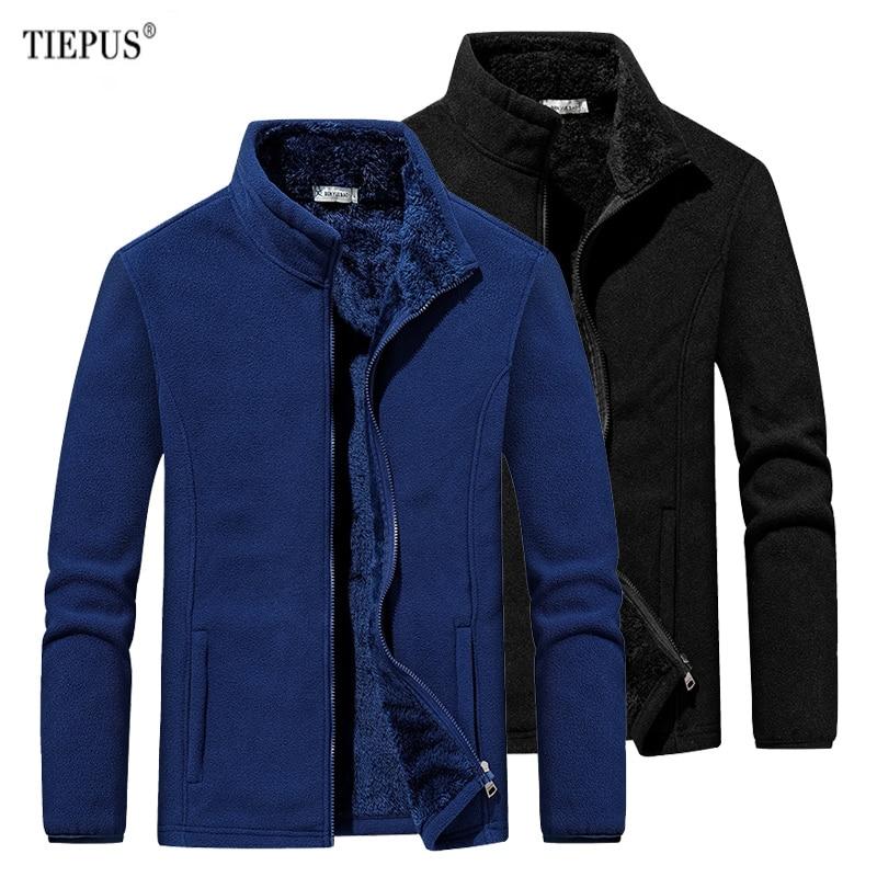 TIEPUS Plus size 5XL, 6XL Men Hooded Sweatshirt fitness for Men Sportswear soft fleece jackets streetwear Tracksuits hoody men