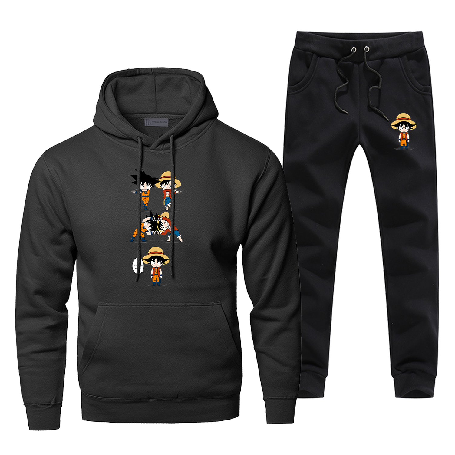 Dargon Ball One Piece Man Hoodie Pants Set Men Sweatshirt Male Hoodies Sweatshirts Mens Sets Two Piece Pant Pullover Hoody Coat