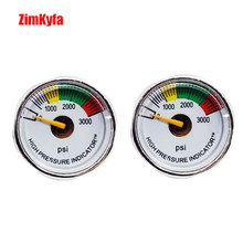 Paintball PCP Air Gun Rifle Pressure Gauge 2pcs 3000psi Mini Micro Manometre Manometer 1/8npt