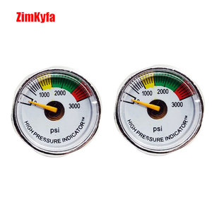 Image 1 - Paintball PCP Air Gun Rifle Pressure Gauge 2pcs 3000psi Mini Micro Manometre Manometer 1/8npt