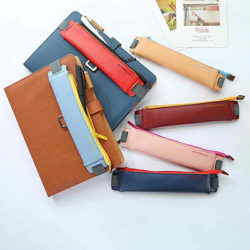 6 cores kawaii pencilcase bookmark caneta caso para fácil transporte bolsa de escritório estudantes suprimentos lápis saco de papelaria escola