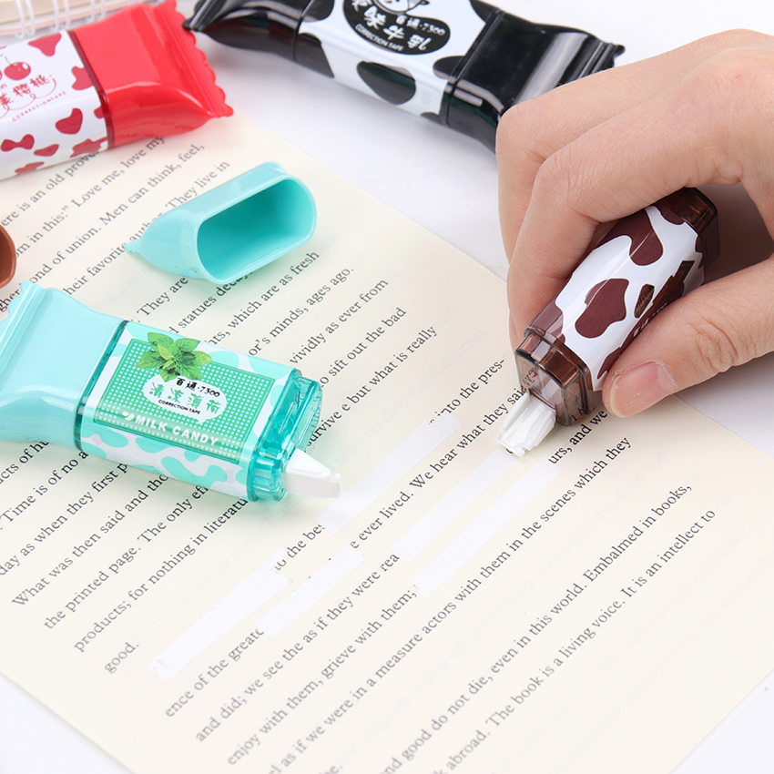 1PC Creative Candy Shaped Correction Tape Stationery School Office Supplies Student Writing Corrector Stationery 3.5 Meters