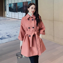 Autumn Winter Turndown Collar Coats Women Woolen Coat Womens Jackets Elegant Female Warm