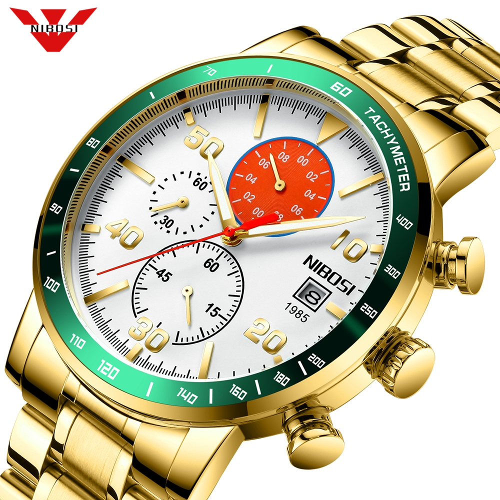 NIBOSI Relogio Masculino Watch Men Fashion Casual Waterproof Quartz Military Stainless Steel Sports Watches Man Clock Mens Watch