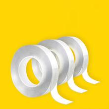 Casa fita reutilizável dupla face adesivo para rosto super forte traceless nano cola gadget cinta magica doble cara transparente